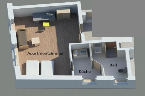 g stehaus wohnung 1. Black Bedroom Furniture Sets. Home Design Ideas